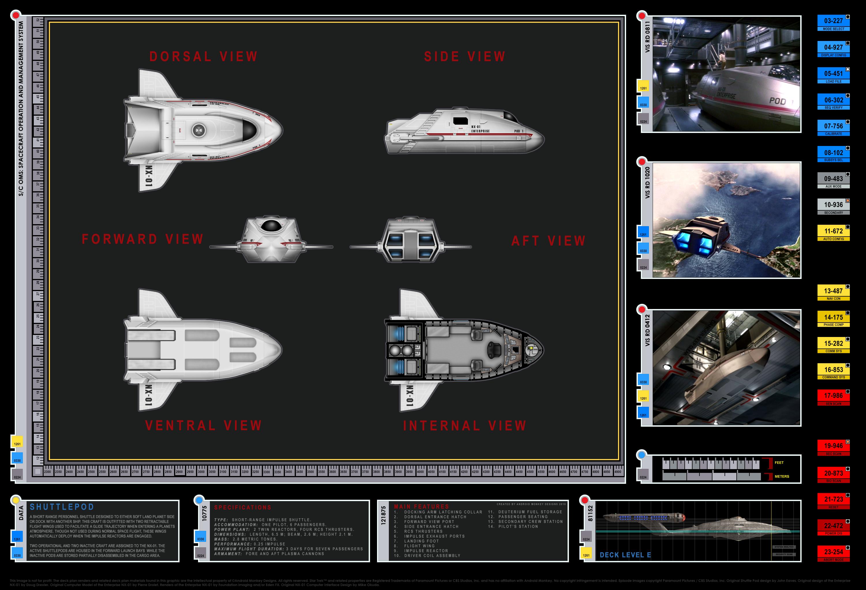 Enterprise NX 01 Layout Shuttlepod Detail
